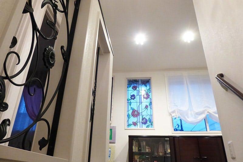 リビングのFIX窓に設置した「ブリリアントモーメント」-室内側