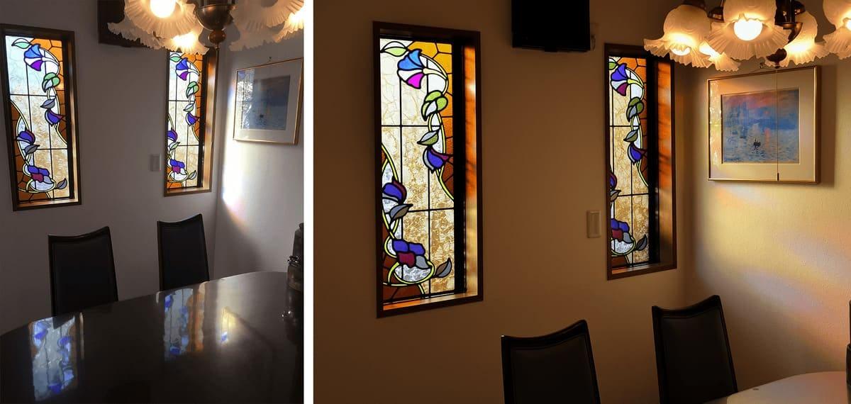 「ブリリアントモーメント K31」が設置されたダイニングのFIX窓(1)