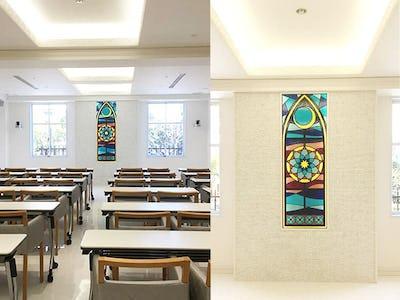 学校の教室内に「フルオーダーステンド」を施工した事例 (大阪府大阪市 建築会社J社様)