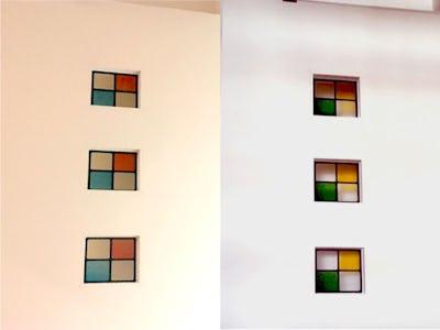 シンプルなデザインが大活躍!新築の建具にステンドグラス4種類を使用した事例(東京都豊島区 A様)