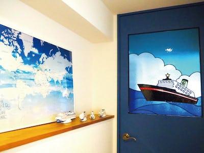 思い出の客船がドア窓に!「フルオーダーステンド」を使用した事例 (大阪府 E様)
