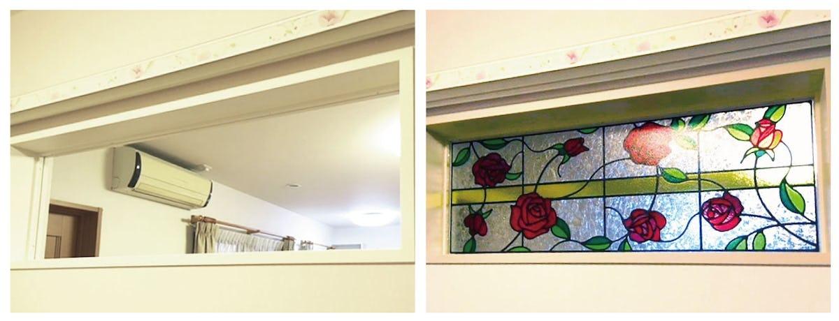 「フルオーダーステンド」設置された室内窓の様子(1)