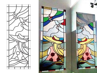 歯科医院の室内窓に!配色にこだわった「フルオーダーステンド」を設置した事例(東京都小金井市 Y様)