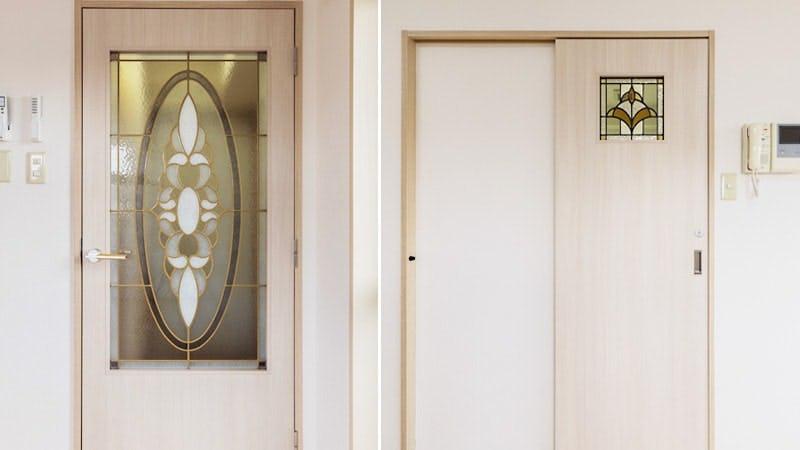 賃貸マンションのドア窓に設置した「スクウェア」と「ブリリアントモーメント」
