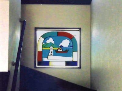 カラフルでカワイイ明かり取り窓に!「フルオーダーステンド」を使用した事例(香川県高松市 T様)
