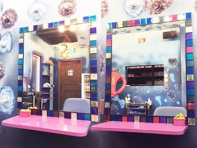 美容室に「ステンドミラー」を設置した事例 (茨城県古河市 Y様)