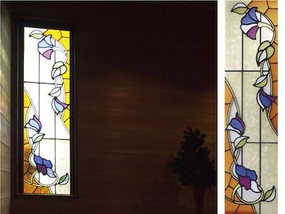 花柄の上品な室内窓に!「ブリリアントモーメント」を使用した事例