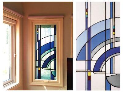 鮮やかな青色の窓ガラスに!「ブリリアントモーメント」を使用した事例
