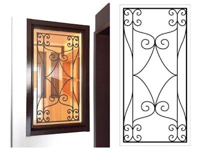 シンプルなお部屋にマッチ!室内窓に「ラインアート」を使用した事例