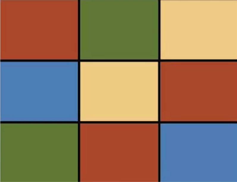 「ラティスカラー MS001」の図柄