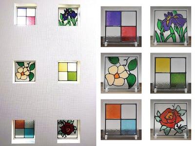 お家のアクセントに!小窓に6種のステンドグラスを使用した事例(兵庫県Y様)