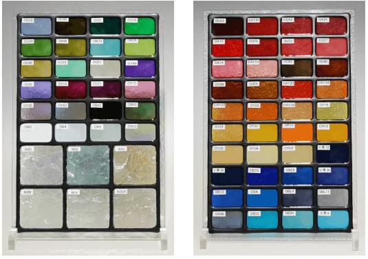 次世代ステンドグラス カラーサンプル