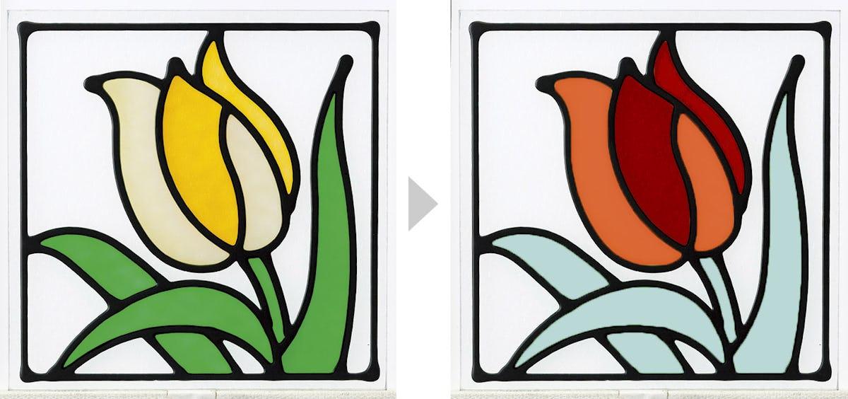 ステンドグラス-色変更