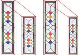 ステンドグラス-柄の拡大・縮小