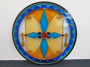 円形のペアステンドグラス