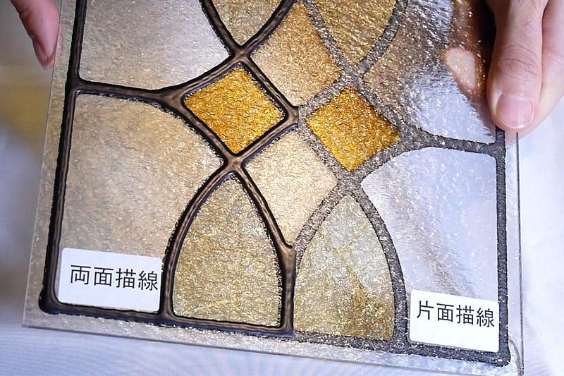 F4K(型板ガラス)の場合-両面描線・片面描線
