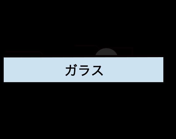 ステンドの表面-片面描線